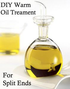 DIY Warm Oil Treatment for Split Ends