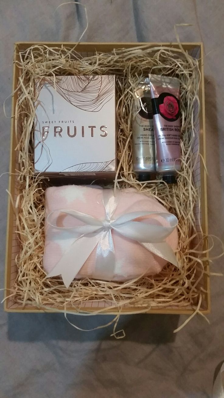 K8iekates Original Pin- Pink Rustic Gift for my Boss. Scented candle, hand creams and fluffy pink slippers