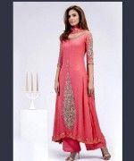 Pakistani Long Sleeve Dresses 2014 For Women