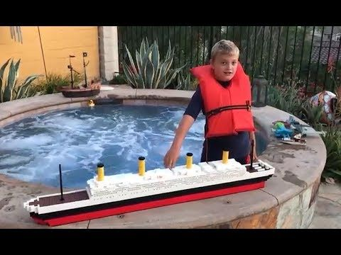 Larry Life launches his HUGE 5 FOOT MONSTER LEGO TITANIC! - YouTube
