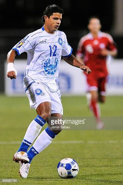 Manuel Salazar of El Salvador controls the ball against Canada during a CONCACAF Gold Cup match at Crew Stadium on July 7 2009 in Columbus Ohio