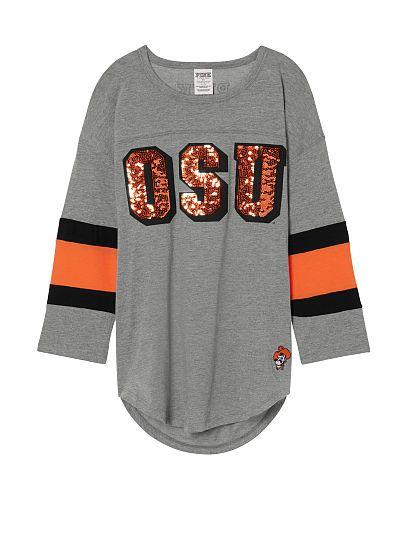 Oklahoma State University Boyfriend Jersey PINK
