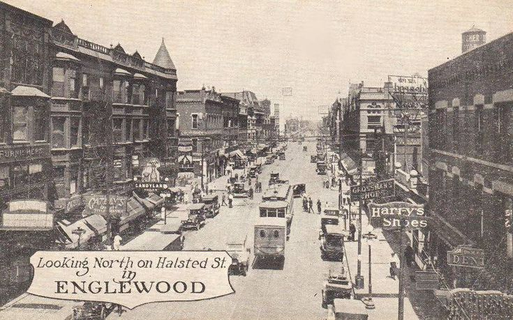 Englewood Chicago in the 1950s   -chicago-englewood-neighborhood-looking-north-on-halsted-englewood ...