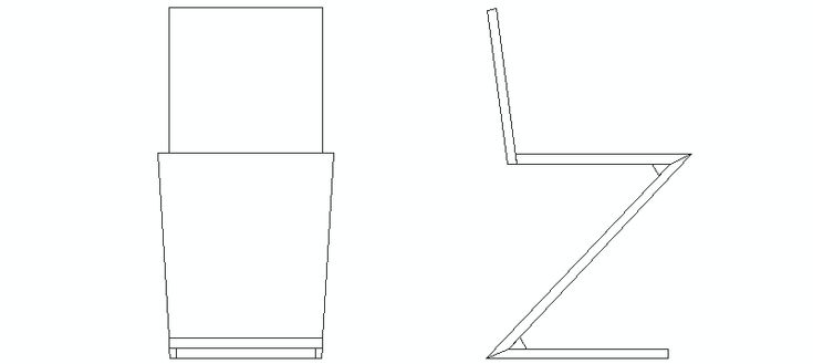 1000 images about bloques autocad de sillas de for Silla zig zag medidas