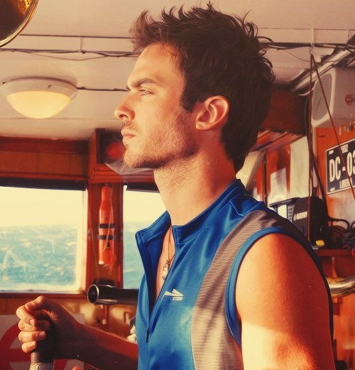 Ian Somerhalder  CHRISTIAN SAILING THE GRACE
