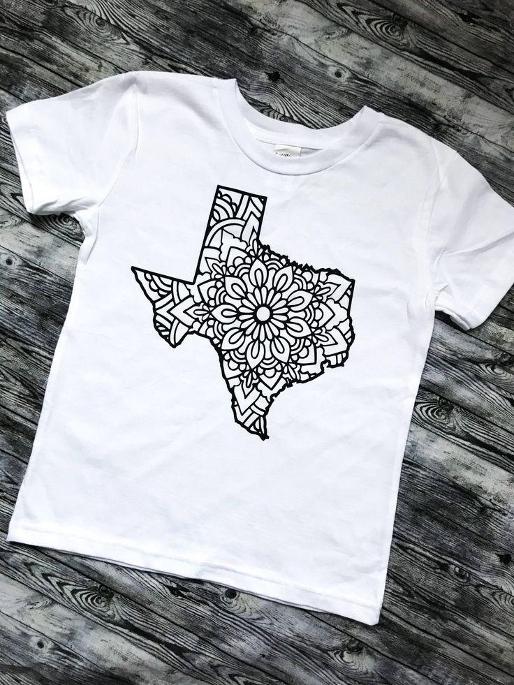 TEXAS State Mandala Design Toddler Infant, newborn Unique Gift, one-piece, bodysuit,snap-tee, creeper, texas shirt, texan baby,texas strong https://www.etsy.com/listing/558419769/texas-state-mandala-design-toddler