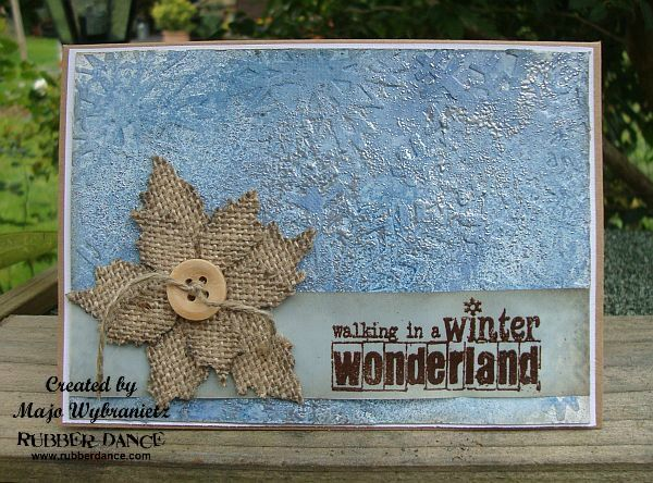 Walking in a Winter Wonderland - Card with Tutorial by Majo for rubberdance.com