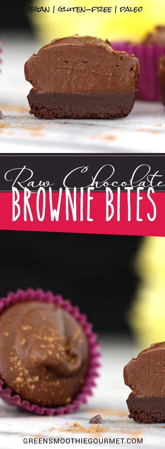 Raw Chocolate Brownie Bites Vegan