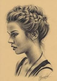 pencil drawings of girls with long hair - Google Search