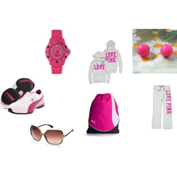 Gym Wear/Lazy Wear, created by #sunsms52 on #polyvore. #fashion #style Victoria's Secret #Puma