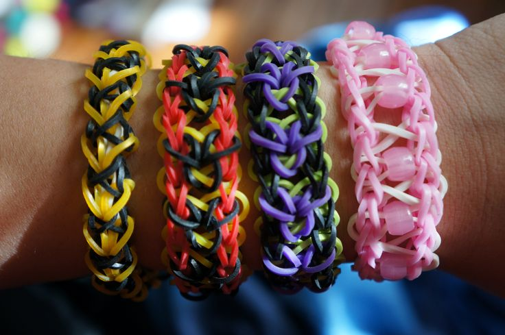 Crochet Braids Rochester Ny : Rainbow loom bracelets starting from the left: Sweetheart, Mickey