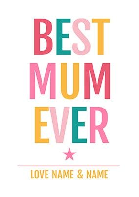 Best Mum Ever Personalised Poster - £4.99