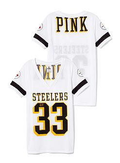 Pittsburgh Steelers Sporty Athletic V-neck Tee - PINK - Victoria's Secret