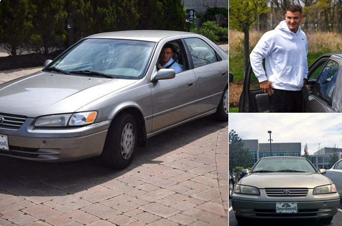 Bears QB Mitchell Trubisky drives grandmother's car to Halas Hall = The Chicago Bears made QB Mitchell Trubisky the No. 2 overall pick in the draft, so he can basically pick any car he wants. Instead, he's driving a 1997 Toyota Camry with 170,000 miles. He recently drove it to…..