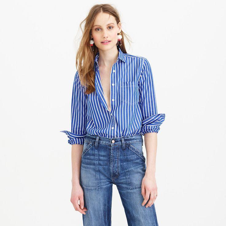 Vertical-stripe shirt : shirts & tops | J.Crew
