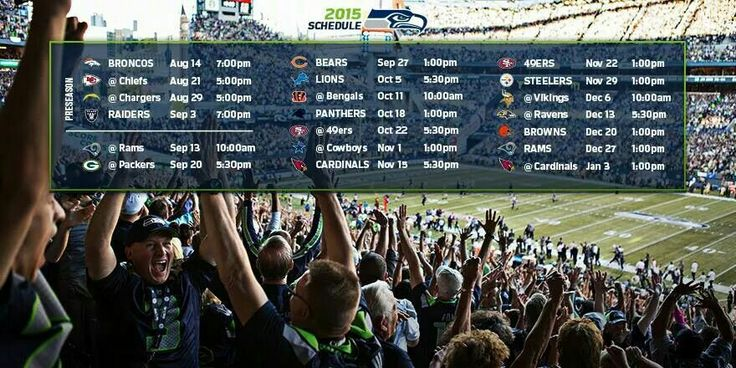Seattle Seahawks' 2015 Football game schedule