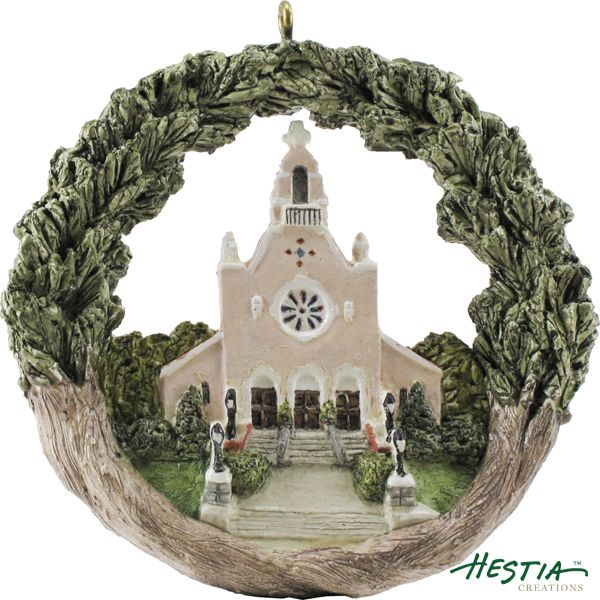 St. Michael's Parish in North Andover, Massachusetts sculpted ornament by Hestia Creations. #hestiacreations #customgift #marbleheadma #stmichaelsparish #andoverma