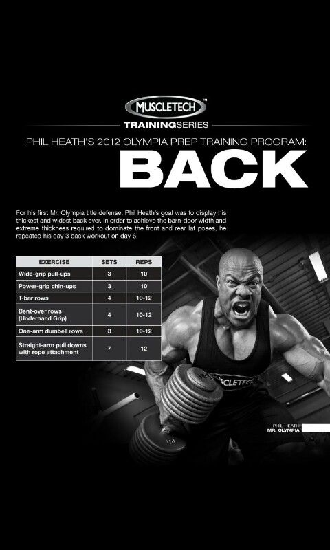 Phil Heath 2012 Olympia prep Traning (Back) Day #6