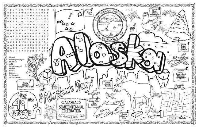 alaska flag coloring pages - photo#23