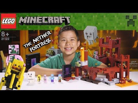 THE NETHER FORTRESS - LEGO MINECRAFT Set 21122 - Unboxing, Review, Time-Lapse…