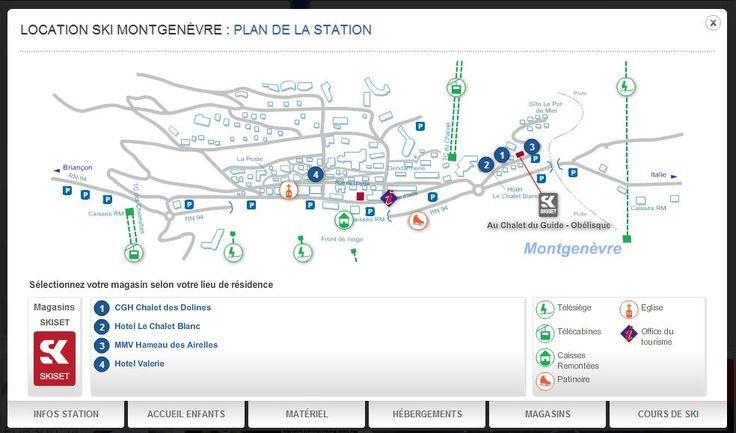 Situation dans le village de Montgenèvre par rapport au magasin de location : http://montgenevre.skiset.com/magasins/astier-sports/