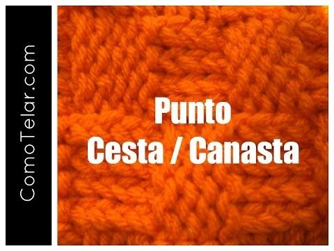Punto Cesta Canasta Tejido en Telar - Loom Knit Basketweave Stitch in Spanish - YouTube
