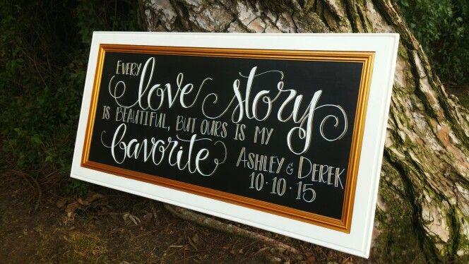 Wedding/engagement party chalkboard!