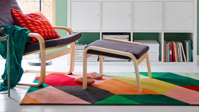 Tapetes coloridos para todos os ambientes