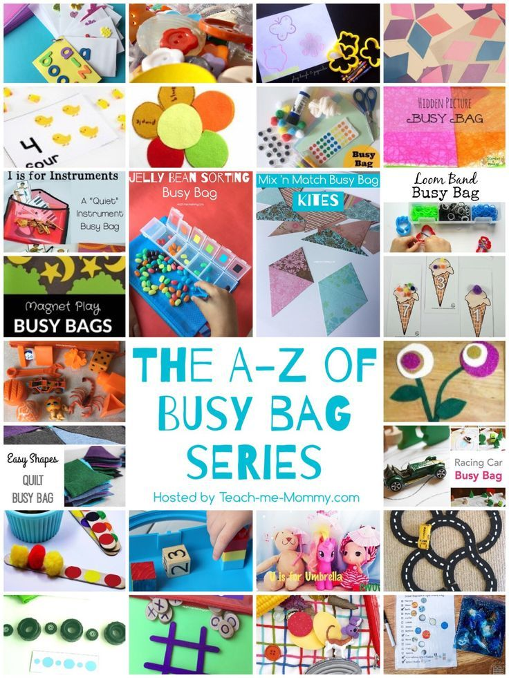 The A-Z of Busy Bags Complete 26 Busy bag ideas shared, one for each letter of the alphabet! Get your busy bag inspiration here!