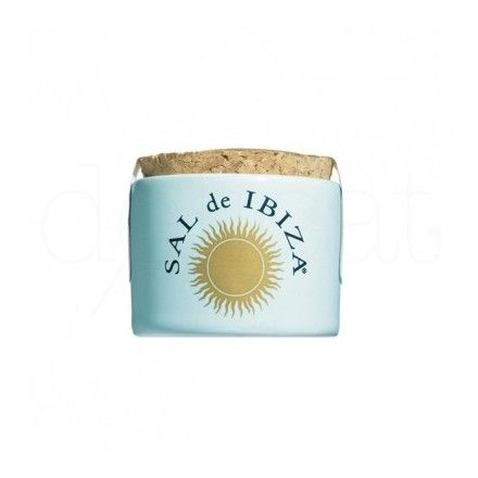 El mini tarro de cerámica de flor de sal marca Sal de Ibiza es uno de los productos más populares de la tienda online gourmet y delicatessen Érase un gourmet.