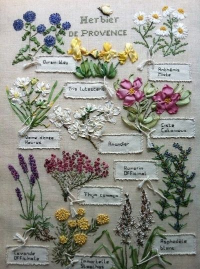 Nice sampler of herb--not needlepoint but great hand work.