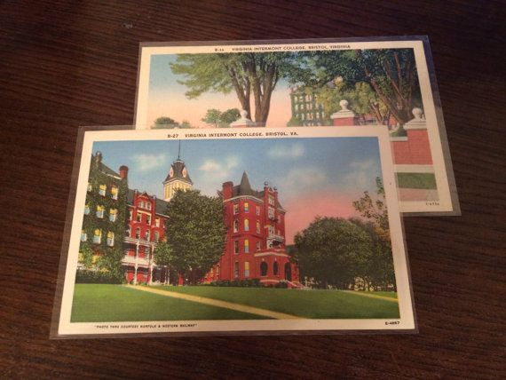 Virginia Intermont College Bristol Virginia Postcard Lot Vintage by PicturesFromThePast on Etsy