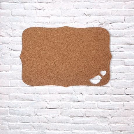 Bokke + Blomme Bird/Heart Pinboard – Cork from Cork Deco Collection - R199 (Save 20%)