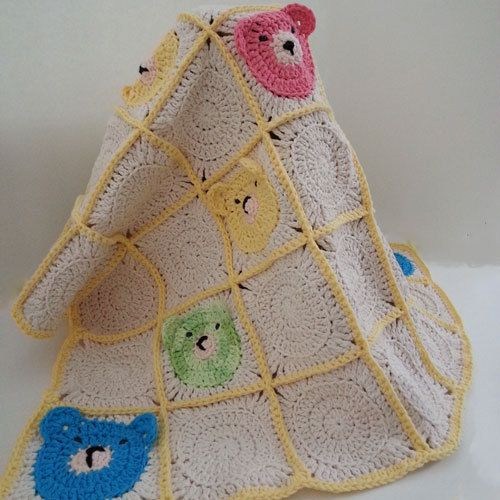 Teddy Bear Baby Blanket by LilCuddles on Etsy