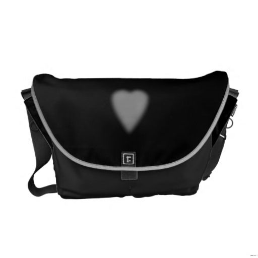 Black with Misty Heart Commuter Bags