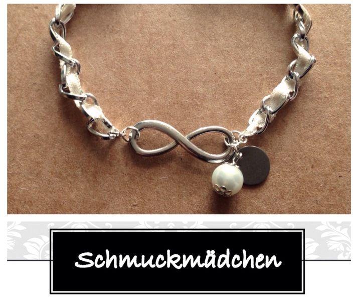 Armband Unendlichkeitszeichen Silber von Schmuckmädchen auf DaWanda.com