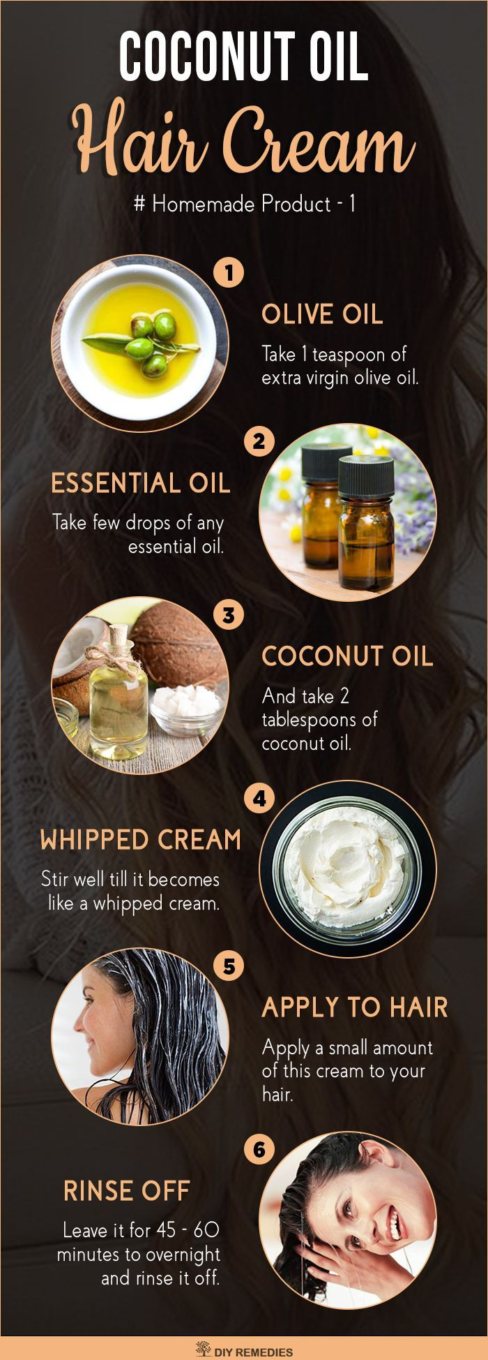 Coconut Oil Hair Cream Usage of this hair cream will deeply nourish your dry or dull hair and provides you with a moisturized shiny hair. #Hair #HairCream #HairGrowth #HairCareProducts