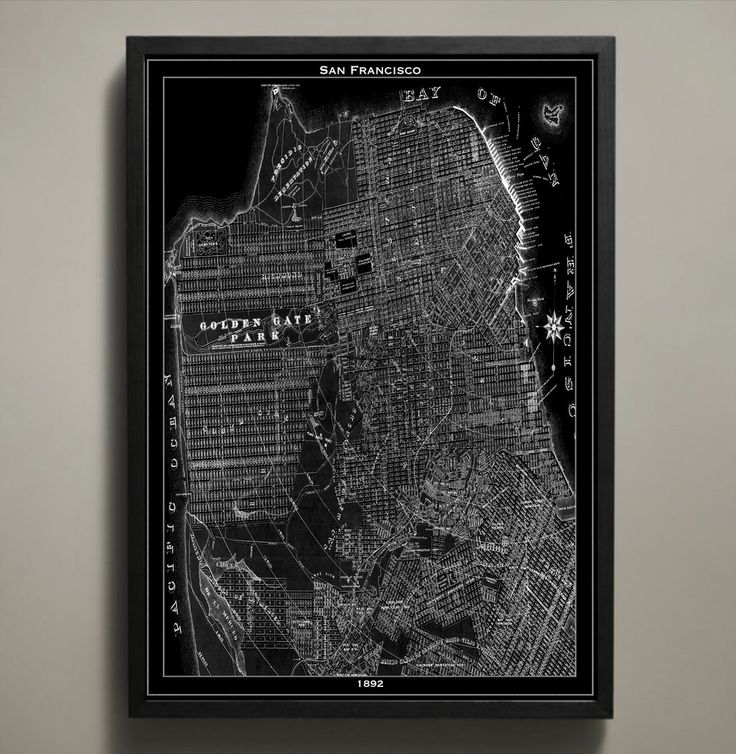 San Francisco Microclimate Map%0A Map Print  SAN FRANCISCO