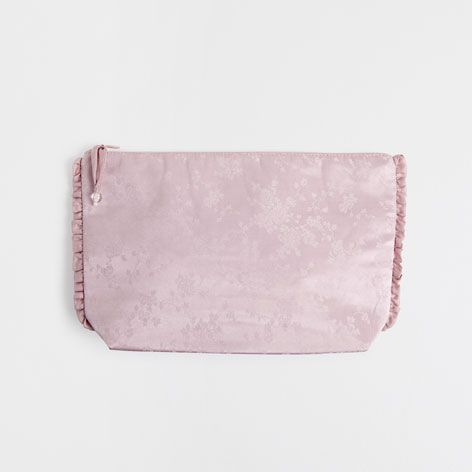 SILK JACQUARD TOILETRY BAG WITH FRILL - Accessories - Homewear & shoes | Zara Home United Kingdom