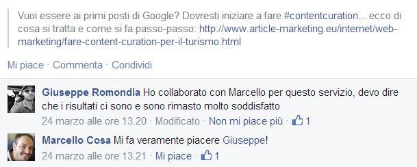 Servizio di Content Marketing per Bed and Breakfast - Cosa pensa Giuseppe dell'Eco Pizzicato B&B: http://www.siamoalcompleto.it/content-marketing-bed-breakfast/