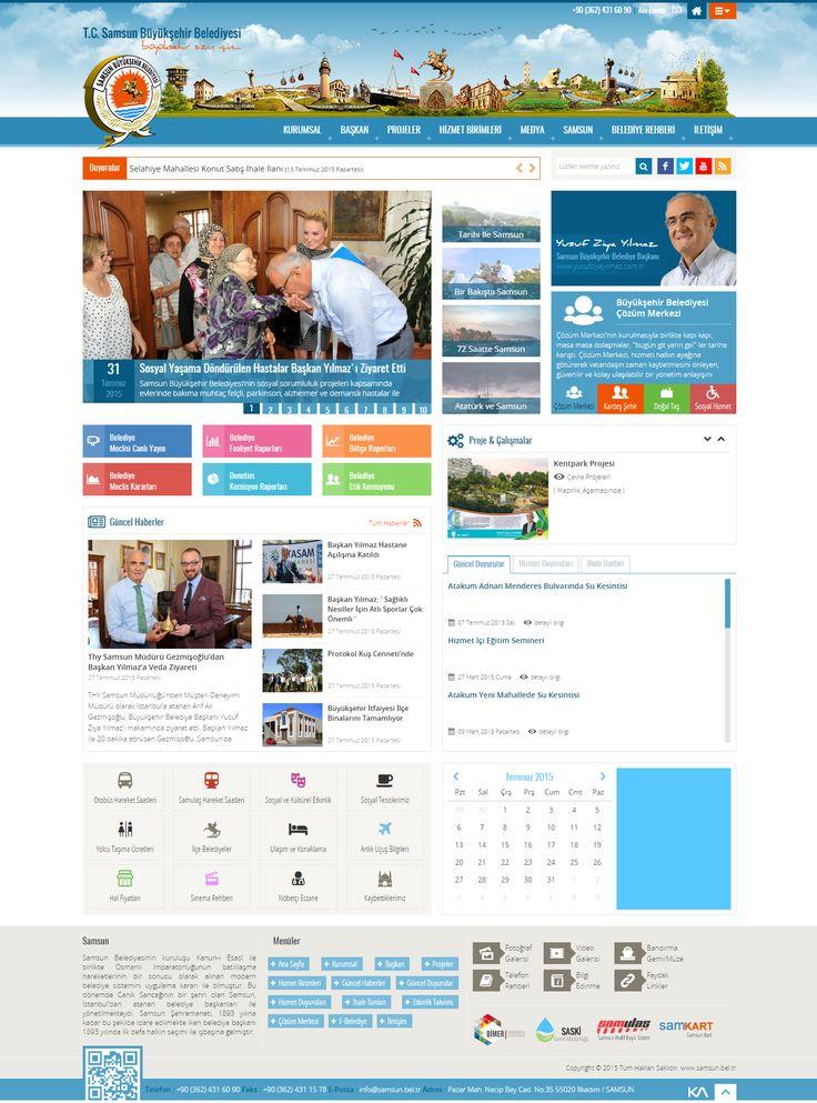 T.C. Samsun Büyükşehir Belediyesi   Web Design