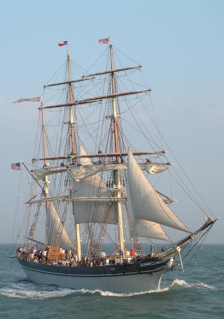 Official Tall Ship of Texas - ELISSA    Located in Galveston, Texas