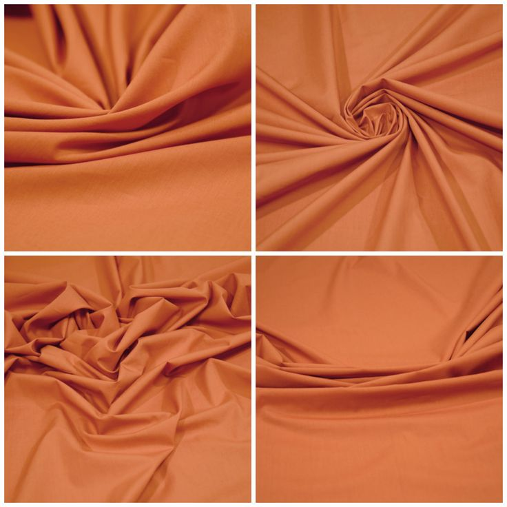 Блузочная ткань  арт. 12-300-0133 Ширина: 144 см, плотность: 100 г/м2 Цвет: Морковный Состав ткани: 99% хлопок 1% эластан Назначение: Блузки, рубашки,сарафаны Тонкий блузочный поплин, немного держит форму, слегка заламывается. #блузочная#плательная#рубашечная#поплин#морковный#оранжевый#хлопок#tutti-tessuti