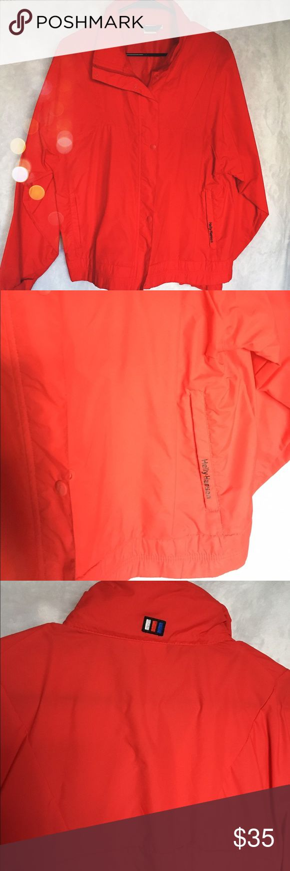 Vintage Helly Hansen jacket Water resistant jacket with zipper and buttons in the front and pockets that zip - perfect jacket for all your whether inclement needs! Helly Hansen Jackets & Coats Utility Jackets