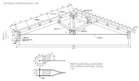 Capriate in legno dwg particolari costruttivi nel 2018 for Particolari costruttivi capriata in legno