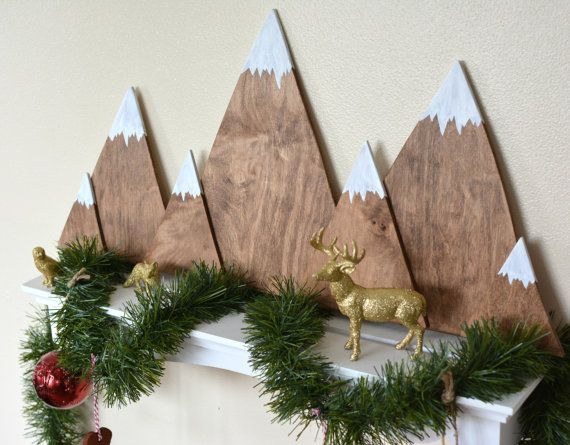 This wooden mountain range will be perfect on a shelf or on your mantle behind your favorite nativity or holiday decor