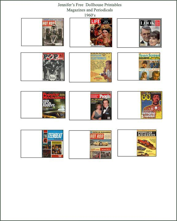 Free Dollhouse Printables Magazines From 1900 1960s Comic