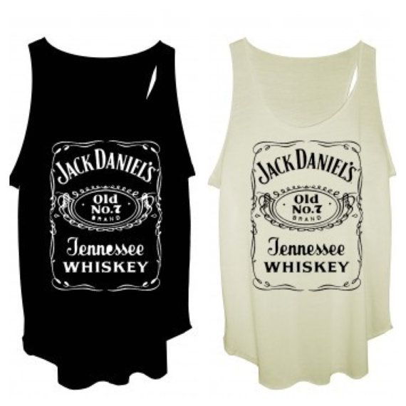 Jack daniel's tank tops vest one size fits all for ladies on Etsy, $9.40