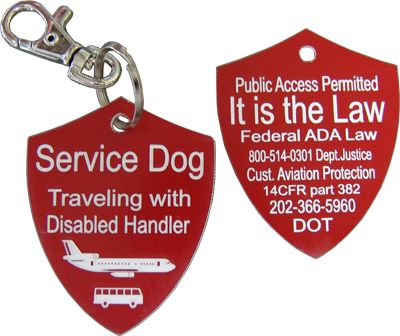 Activedogs.com | Engraved Service Dog Travel Tag