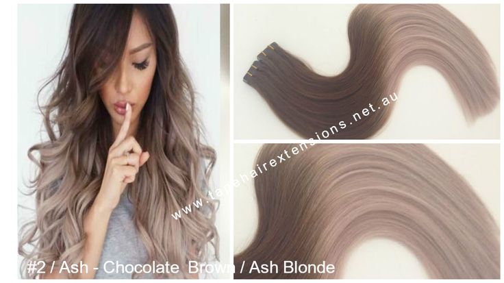 Brown to Ash Blonde Ombre  www.tapehairextensions.net.au